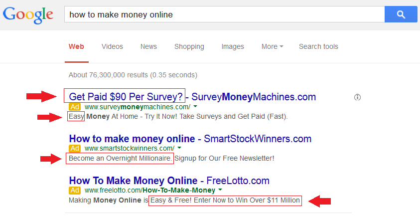 How to make money online ads